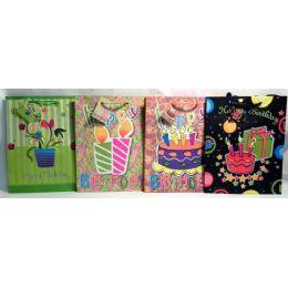 144 Units of Happy Birthday Medium Gift Bag - Gift Bags