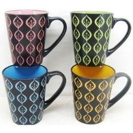 48 Units of 11 Ounce Stoneware Mug Modern Design - Coffee Mugs
