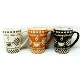 48 Units of 11 Ounce Stoneware Mug Coffee Design - Coffee Mugs