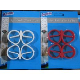 48 Units of Table Cloth Clips 4 Pack - Table Cloth