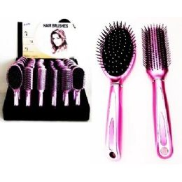 72 Units of Deluxe Hair Brush Assortment on  Counter Display - Hair Brushes & Combs