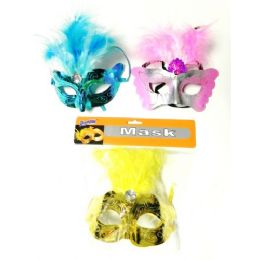 48 Units of Mardi Gras  Halloween Feather  Mask - Halloween & Thanksgiving