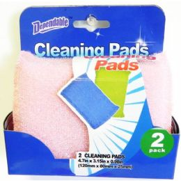 48 Units of Terry Net Scouring Sponge Pads 2 pack - Scouring Pads & Sponges