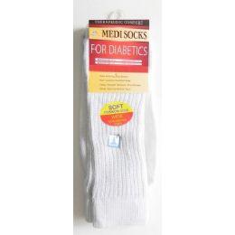 144 Units of White Mens Diabetic Socks - Men's Diabetic Socks