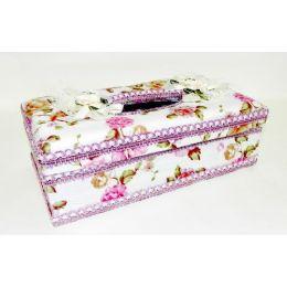 12 Units of Elegant Tissue Box Case - Tissues
