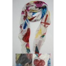 72 Units of Fashion Scarf--Assorted Large Hearts - Winter Scarves