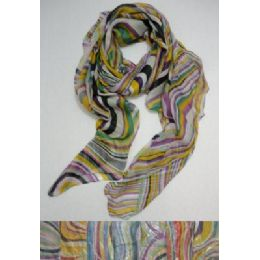 72 Units of Fashion Scarf--Groovy Stripes - Winter Scarves