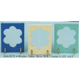36 Units of Flower Mirror with Key Holder Closeout - Wall Decor