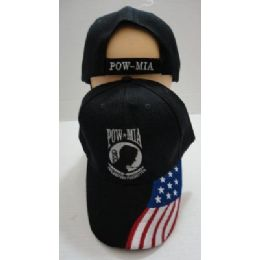 24 Units of POW/MIA Hat [Flag on Bill] - Military Caps