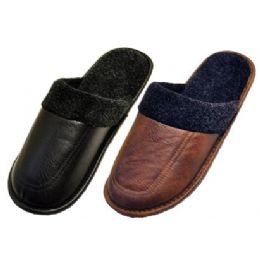 36 Units of men leather slippers - Men's Slippers