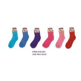 360 Units of Solid Color Fuzzy Sock - Womens Fuzzy Socks