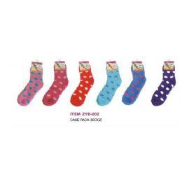 360 Units of Polka Dot Fuzzy Sock - Womens Fuzzy Socks