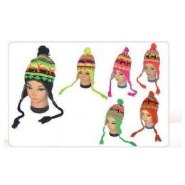 72 Units of Women's Neon Helmet Hat - Winter Helmet Hats