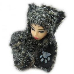 36 Units of Winter Animal Hat With Hand Warmer - Winter Animal Hats
