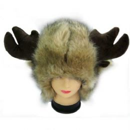 36 Units of Animal Hat With Horns - Winter Animal Hats