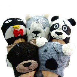 60 Units of Knit Animal Hat - Winter Animal Hats