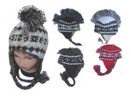 60 Units of MOHAWK EAR FLAP KNIT HAT - Winter Helmet Hats