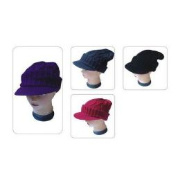 72 Units of LADIES HATS WITH VISOR - Winter Beanie Hats