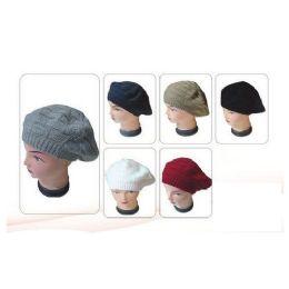 72 Units of Ladies Winter Beret - Baseball Caps & Snap Backs