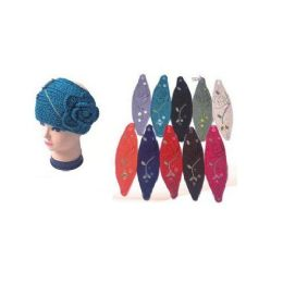 120 Units of Ladies Ear Warmers With Flower - Ear Warmers