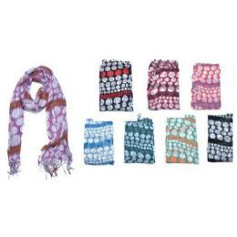 60 Units of Dotted Pattern Ladies Fashion Scarf - Womens Fashion Scarves
