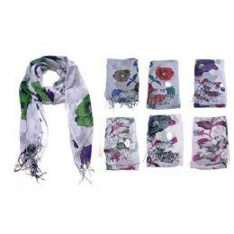 60 Units of Giant Flower Print Ladies Fashion Scarf - Womens Fashion Scarves