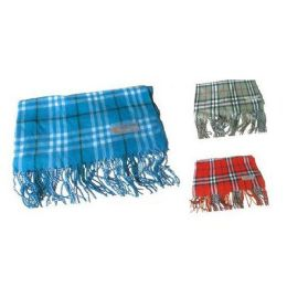 60 Units of Assorted Color Plaid Print Scarf - Womens Fashion Scarves