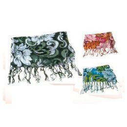 60 Units of Flower Petals Print Ladies Scarf - Womens Fashion Scarves