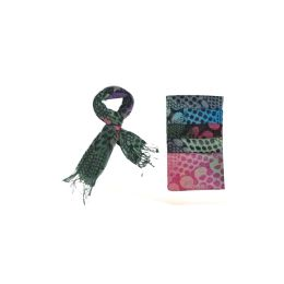 60 Units of Funky Dotted Pattern Ladies Scarf - Womens Fashion Scarves