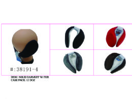 120 Units of Soft Solid Earmuff W/ Faux Fur - Ear Warmers