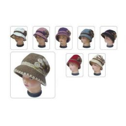 60 Units of LADIES FASHION HAT HEAVY LINING AND FLOWER - Fashion Winter Hats