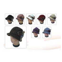 60 Units of Keavy Hat W/ Fashion Bow W/ Studs - Baseball Caps & Snap Backs