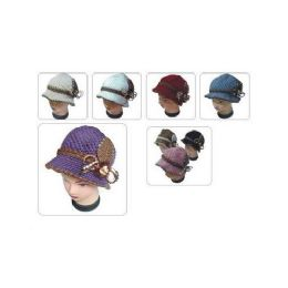 60 Units of KNIT HAT WITH FLOWER - Fashion Winter Hats