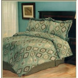6 Units of 4 Piece Madrid Comforter Set Twin Size - Bed Sheet Sets