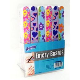 144 Units of Cushioned Emery Boards On Counter Display - Manicure and Pedicure Items