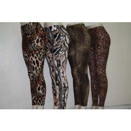 72 Units of Ladies Animal Print Legging - Womens Leggings