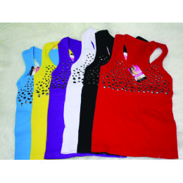 72 Units of Ladies Top With Studs - Womens Fashion Tops