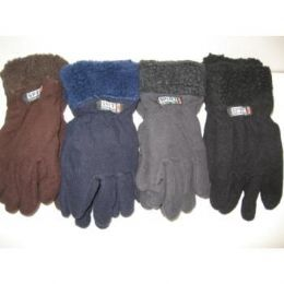96 Units of Fleece Gloves w/ Fur Top - Fleece Gloves