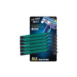 72 Units of Ultra Max Razor Double Blade 6PK Blue - Shaving Razors