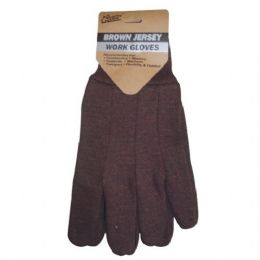144 Units of Brown Color Jersey Glove - Working Gloves