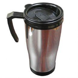 48 Units of Plastic Chrome Mug 16oz - Coffee Mugs
