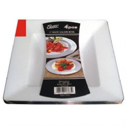 48 Units of Plastic White Bowl Square 5in 4PK - Plastic Bowls and Plates