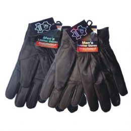 24 Units of Winter Glove Genuine Leather Men - Leather Gloves