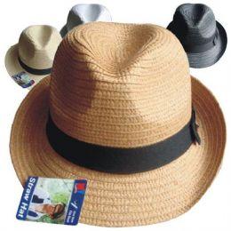 60 Units of Straw Hat Men - Cowboy & Boonie Hat