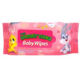48 Units of Baby Looney Tunes Baby Wipes 100CT in Pink - Baby Beauty & Care Items