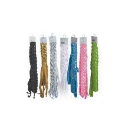 144 Units of Fashion Glitter Belt Black - Womens Belts
