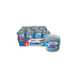 48 Units of Metal Scrubber 4pk Counter Display - Scouring Pads & Sponges