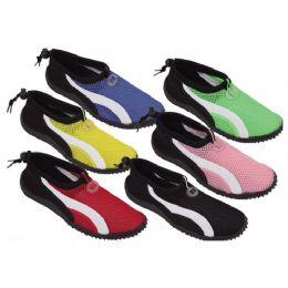 36 Units of Ladies' Aqua Socks Assorted Colors - Women's Aqua Socks