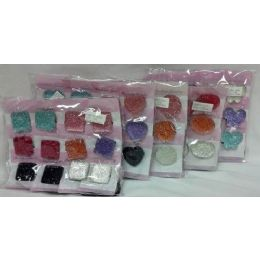 180 Units of Large Plastic Glitter Pony Tie - Hair Accessories