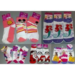 180 Units of Walt Disney Socks Girls 2 Pack Socks - Girls Ankle Sock